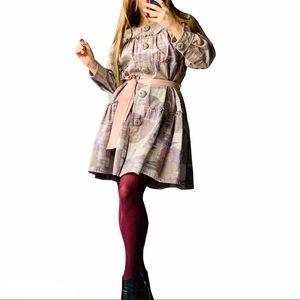 Marc Jacobs Vintage Pleated Tiered Dress Coat